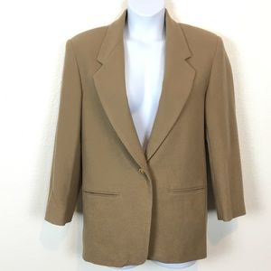 Vintage Camel Wool Oversized Blazer Made in Russia